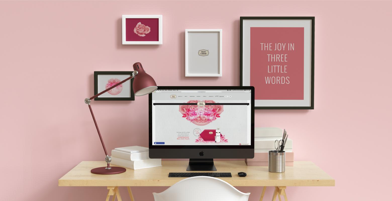 Mon Cheri Webpage and desk